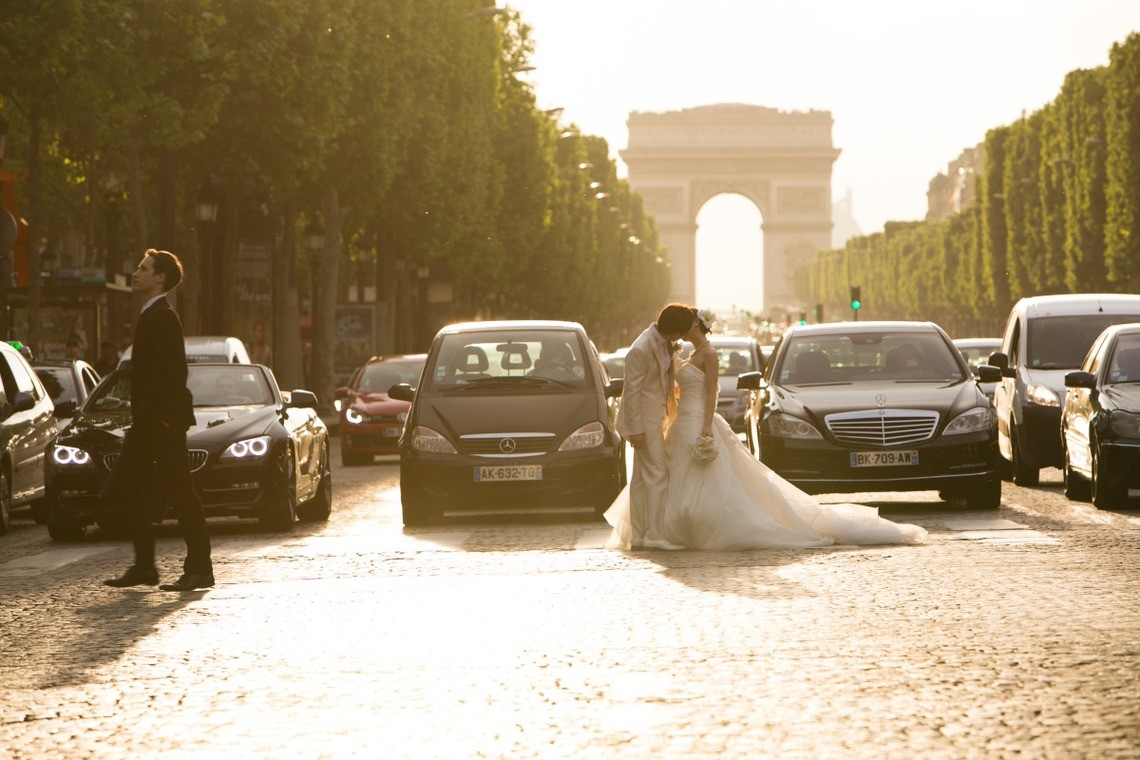 IDEA PHOTO WORKSが撮ったパリでのウェディングフォト