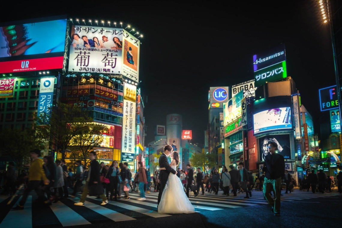 Busy at all times of the day, Shibuya Crossing! — Photo 2 of us photography