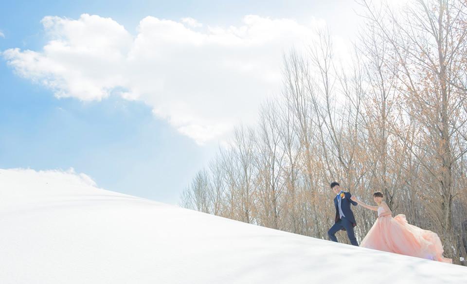 北海道のロケーションフォトウェディング