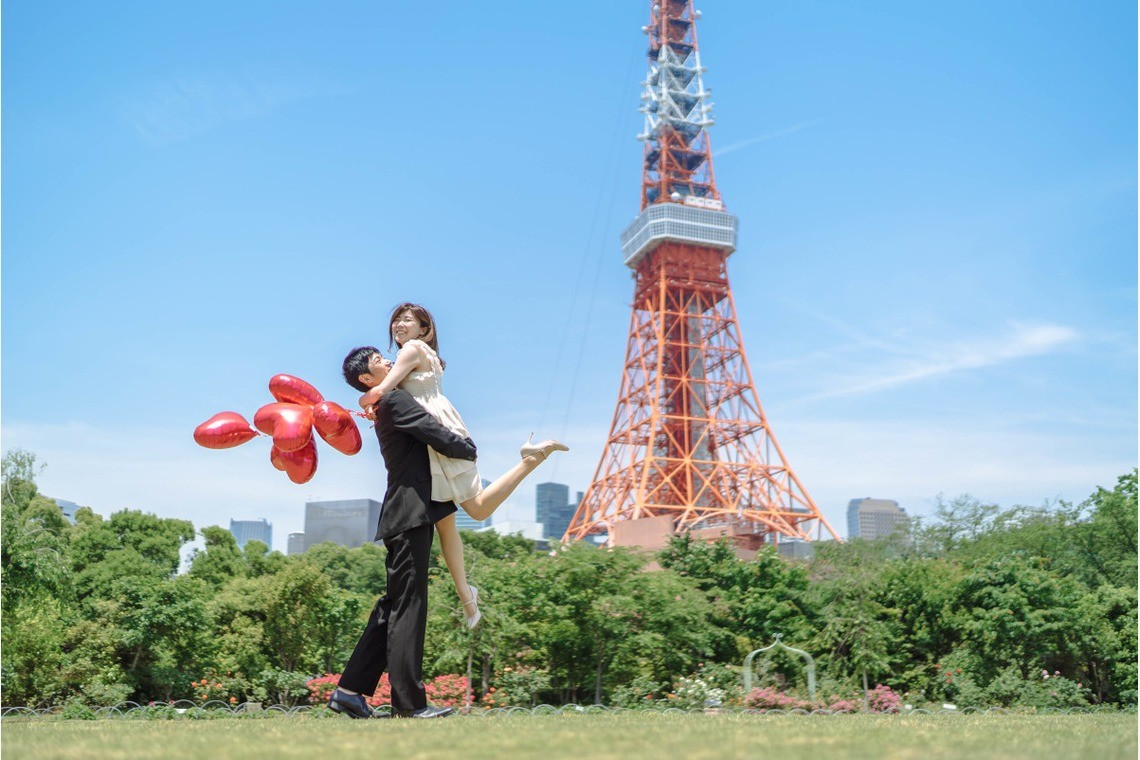 In front of Tokyo Tower — Photo by Natsumetic Photography