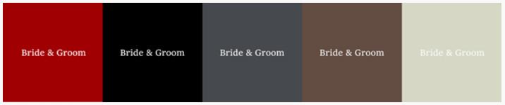 結婚式当日写真のアルバム